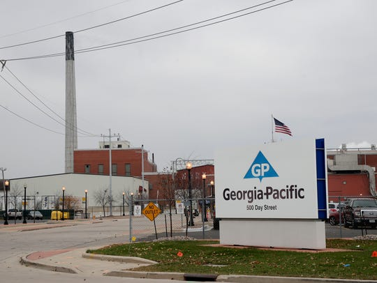 Georgia-Pacific's mill at 500 Day St. on Friday, Nov.