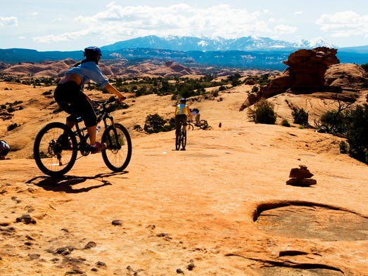 The 142-mile Kokopelli Trail leads mountain bikers from Fruita, Colo., to Moab, Utah, providing cyclists a variety of memorable scenery, starting and ending in red rock canyon country.