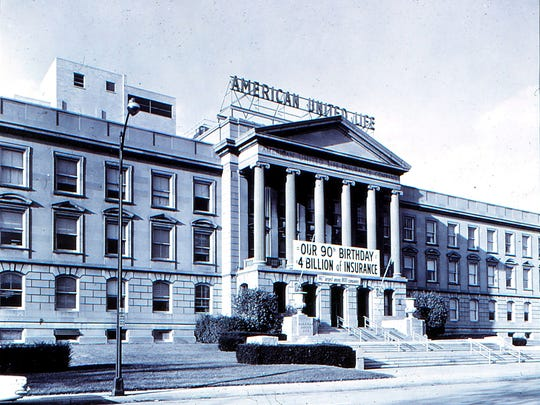 Ground was broken in 1930 on this building, which was the headquarters for American Central, which became American United Life in 1936 and now is OneAmerica.