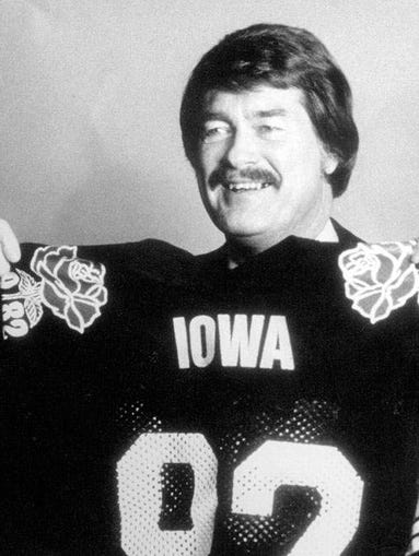 """""""Until we go undefeated and win the Rose Bowl, I'll never feel satisfied. That's something that motivates me to keep going."""" - Hayden Fry"""