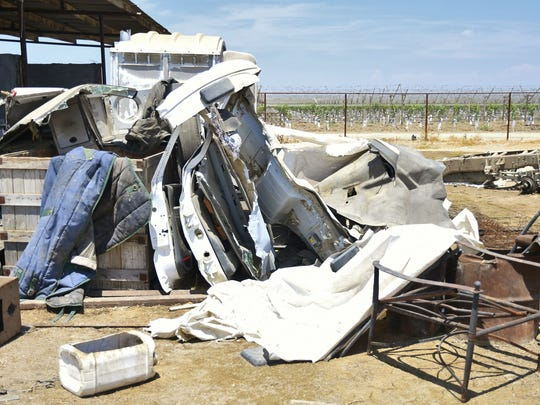 TRATT investigators uncovered a large chop shop in rural Tulare County Monday morning. Five dissembled cars were found on the property, but the suspects remain on the loose.