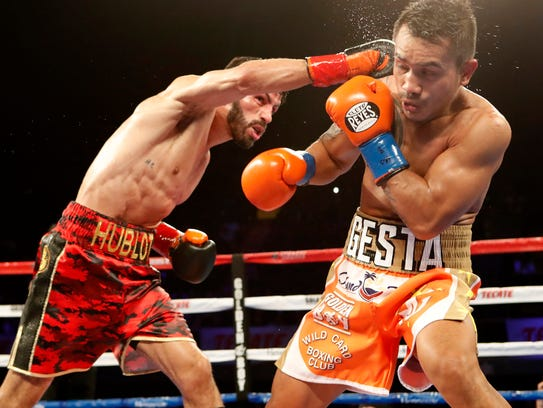 Jorge Linares of Venezuela successfully defended his