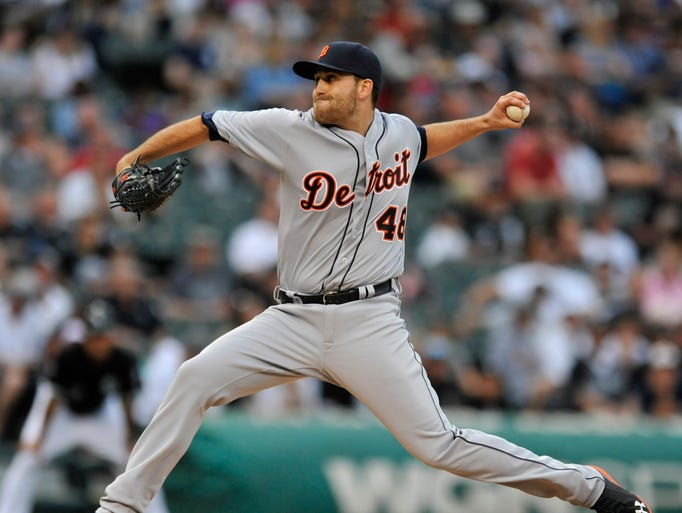 Detroit Tigers starter Matt Boyd winds up during the