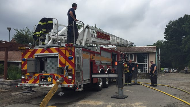 White Plains firefighter were able to quickly contain a fire at Amodio's Garden Center on Mamaroneck Ave in White Plains on Thursday afternoon.