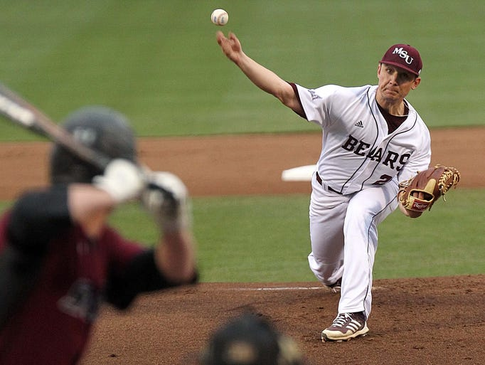 Missouri State's Cody Schumacher pitches against Southern Illinois on Friday at Hammons Field.