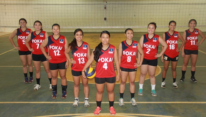 The POKAI womenÕs and menÕs volleyball teams are scheduled to leave for the Philippines for a tournament. The womenÕs team, coached by Art Stanley, includes, from left: Kara Guerrero, Zhannissa Mendiola, Edelene Cruz, Zhyerra Delos Reyes, Kimberly Aquino, Regine Dela Montanye, Maricon Villena, Jasmine Almoguera and Shanniqua Mendiola. Not present for photo: Jessica Nunez and Adrianna Chang.