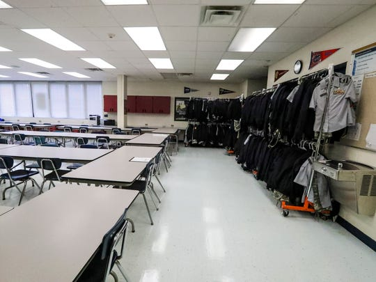Lehigh Senior High School has the largest JROTC program in the state. While half the students on campus - more than 950 - are part of the Lightning Regiment, there's only three classrooms dedicated to the program because space is so cramped at the high school.