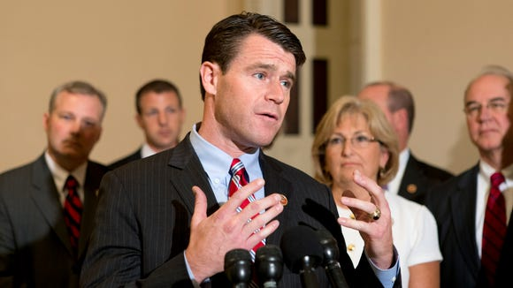 Rep. Todd Young, R-Ind., is being endorsed in his Senate