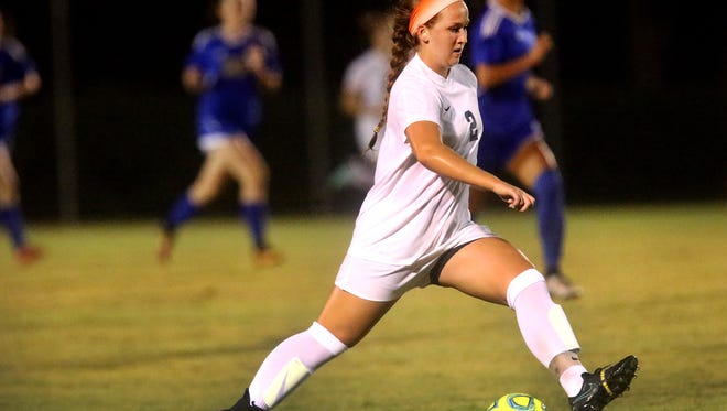 Siegel's Ashley Lawson (2) Is a finalist for the DNJ's All-Area Girls Soccer Player of the Year.