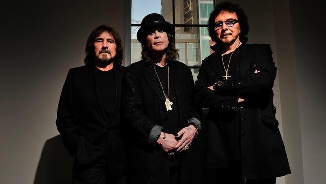 The original members of Black Sabbath in 2013.  From left: Geezer Butler, Ozzy Osbourne and Tony Iommi.