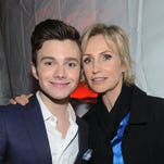 NEW YORK, CA - MAY 13: Chris Colfer, and Jane Lynch attend the 2013 FOX Programming Presentation Post Party at Wollman Rink in Central Park on Monday, May 13, 2013 in New York, New York. (Photo by Brad Barket/Invision for FOX)