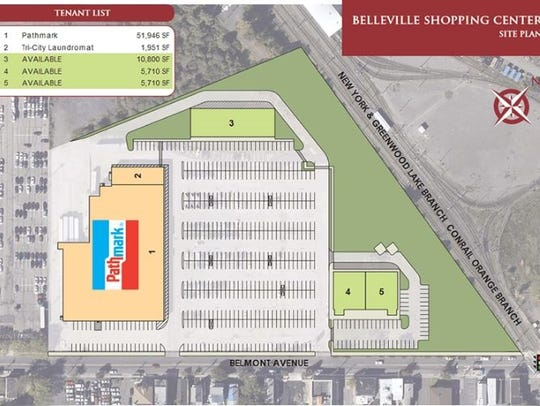 The site plan for a Belmont Avenue location posted