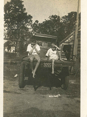 Owen I. Gramling Jr., and Cay Grambling, sons of founder O.I. Gramling, sit on the back of the company's delivery truck in the 1920s. Owen and Cay, uncle and father respectively of current owner Stan Gramling, operated the company for decades.