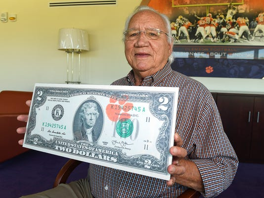 Clemson Has Its Own Money 2 Bills Tradition Is Now 40 Years Old