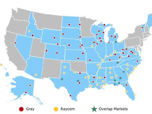 Raycom Media sale map - 14 WFIE
