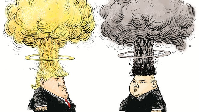 Trump and Kim Mushroom Heads