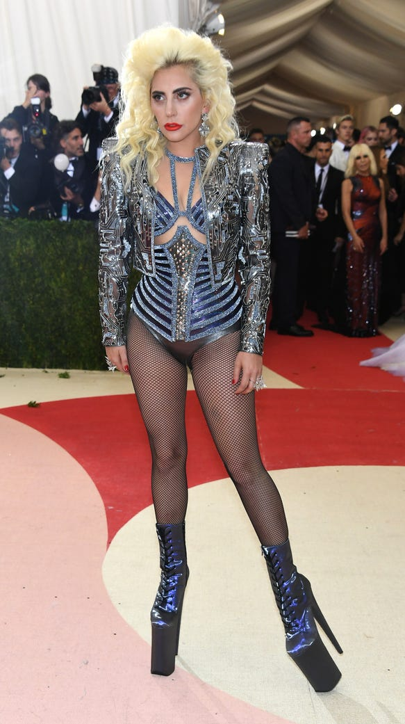 Lady Gaga Goes Pantsless On The Met Gala Red Carpet