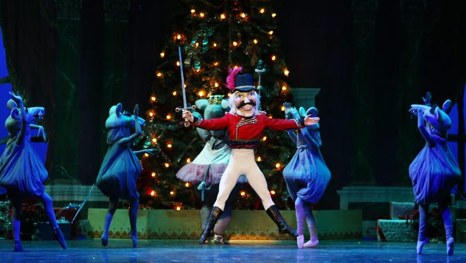 "Dancers perform during the 2017 production of ""The Nutcracker"" by the Northwest Florida Ballet."