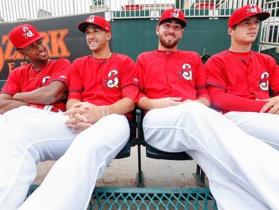 Springfield Cardinals starting pitchers, from left,