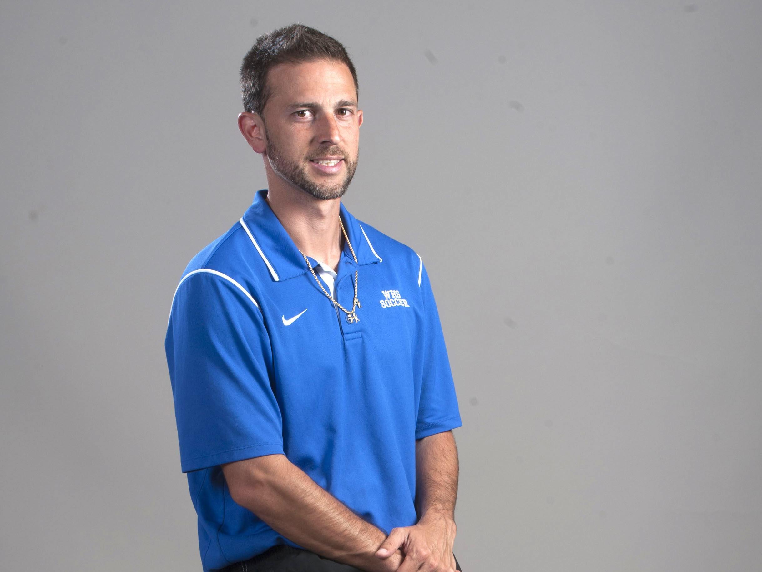 Washington High Soccer Coach Felipe Lawall.