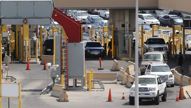 Traffic from Mexico moves into the United States at the Bridge of the Americas Port of Entry.
