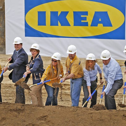 IKEA's new I-69 exit nears completion