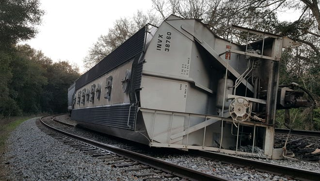 A train derailed in downtown Quincy Tuesday.