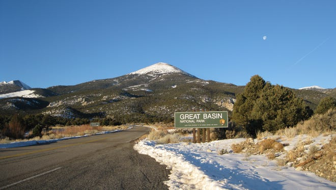 Jeff Davis Peak in Great Basin National Park in Nevada. The peak is named after the former U.S. Secretary of War who later became President of the Confederate States, which fought the Union States in the Civil War.