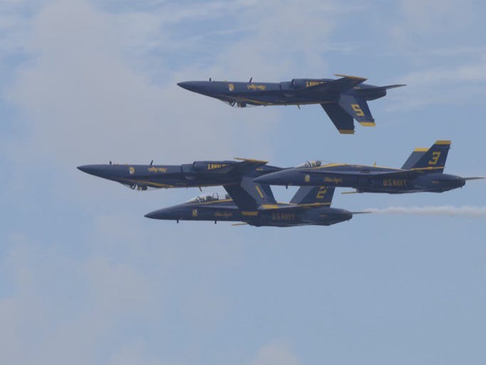 The Blue Angels take the skies over Pensacola Beach.