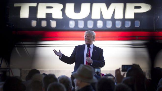 Donald Trump campaigns in Bentonville, Ark., on Feb. 27, 2016.