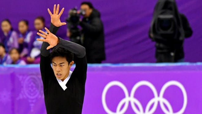 Nathan Chen competes in the free skate program.
