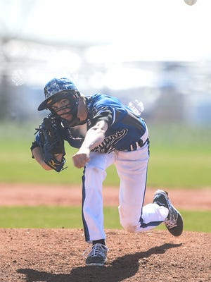 Resurrection Christian's pitcher Jake Tomcheck, pictured in this file photo, threw a perfect game against Denver Christian last week.