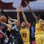 Tori Jankoska, left, and Michigan State will try to complete a season sweep of Penn State on Thursday.