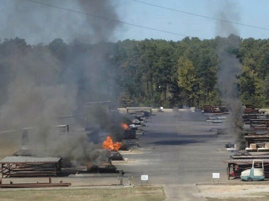 Open burning of explosives and other toxic waste is conducted for waste disposal at the Clean Harbors Colfax facility.  House Bill 11 would ban such open burning.