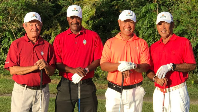 Guam's National Men's Golf Team will be competing in the 2017 MPI Generali Saujana Amateur Golf Championship in Kuala Lumpur, Malaysia on May 23-25, 2017. The team comprises, from left: Vic Borja, Daryl Poe, Hiro Kubo and Robert Manalo. They will face some of the top amateurs in Asia.