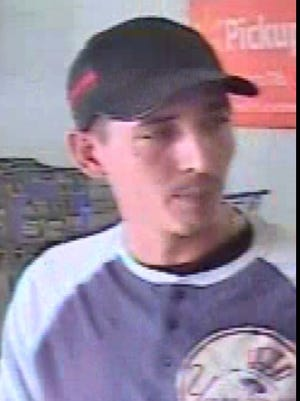 This man was seen using what are believed to be counterfeit credit and debit cards at the Memorial Boulevard Walmart.