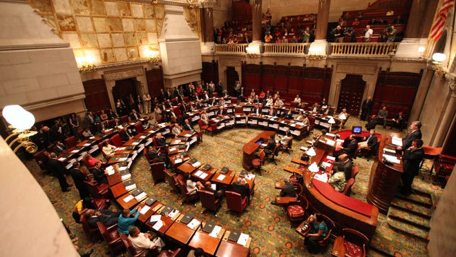 The New York state Senate in session.