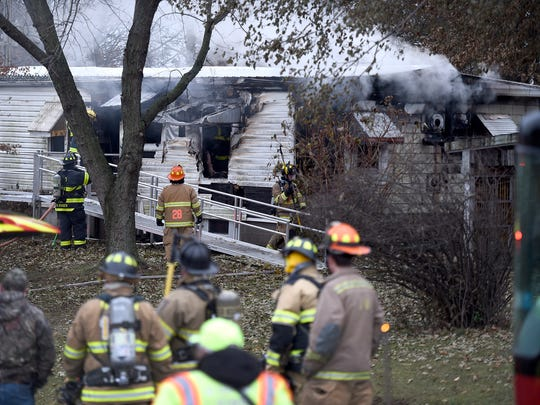 Several fire companies from Lebanon County responded to a house fire at 894 Kimmerling Friday afternoon. Dec. 8.