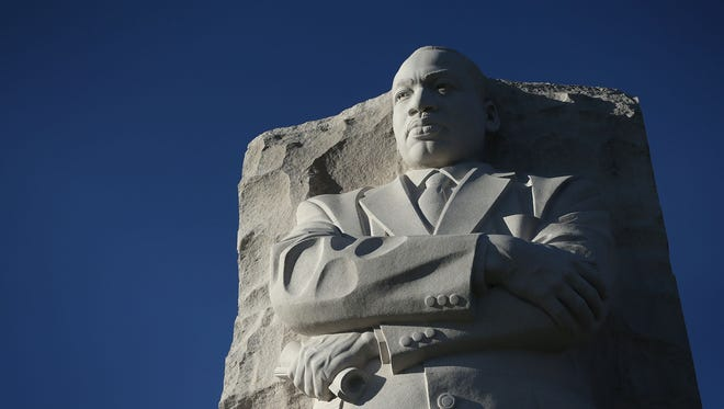 WASHINGTON, DC - JANUARY 18:  The statue of Martin Luther King Jr. is seen at Martin Luther King Jr. Memorial January 18, 2016 in Washington, DC. The nation observes the life and legacy of Martin Luther King Jr. today.  (Photo by Alex Wong/Getty Images)