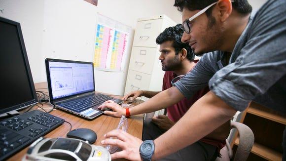 Arizona State University graduate students Sushil Kumar