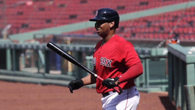Rafael Devers was back for the Red Sox on Wednesday.