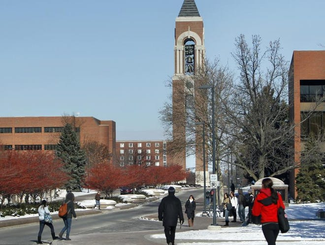 The Ball State University campus.
