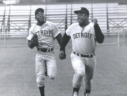Wayne Redman, left, and Willie Horton on April 8, 1970.