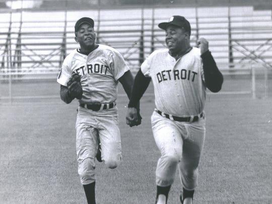 Wayne Redman, left, and Willie Horton on April 8, 1970.