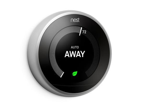 The Nest Thermostat automatically turns itself down