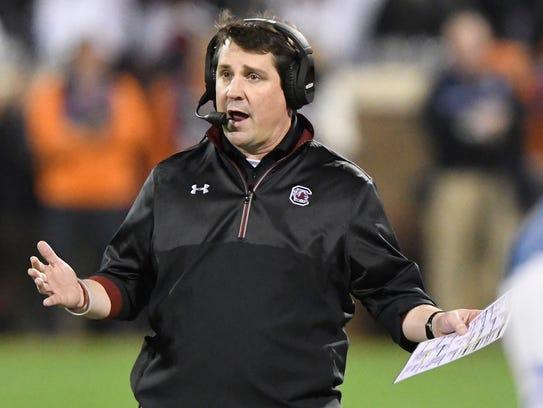 South Carolina coach Will Muschamp