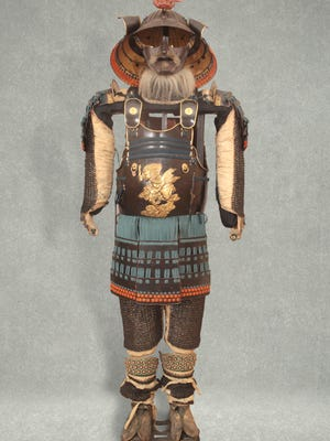 Samurai armor is on display as part of the new Asian-art gallery at the University of Vermont's Fleming Museum.