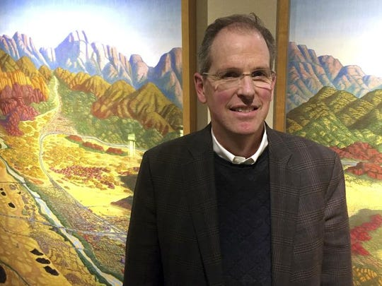 In this Monday, Nov. 28, 2016, photo, state Sen. Peter Wirth, D-Santa Fe, poses for a photo in the state Capitol building in Santa Fe. In his unsalaried job as the next New Mexico state Senate majority leader, is positioned as a chief powerbroker for high-stakes decisions about plunging state revenues and essential government services.
