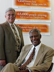 The Rev. Larry Davis (left) and the Rev. Damon Lynch, Jr. were organizers for the 2002 Rev. Billy Graham Mission.