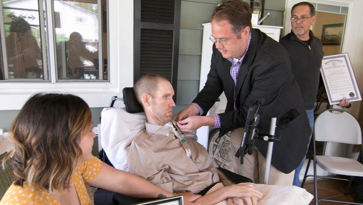 Brighton man with ALS checks military recognition with Dad off bucket list